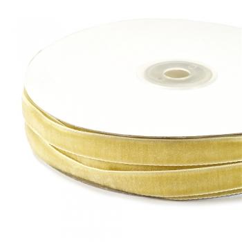 Стрічка оксамитова 10 мм колір золото
