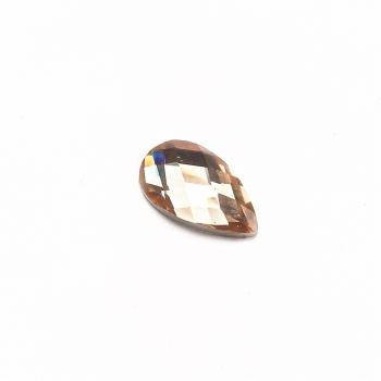 Стрази клейові пластикові 12х7 мм персикові уп. 15шт
