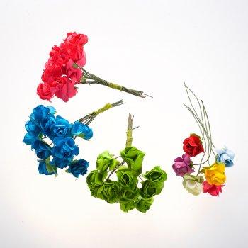 Штучна квітка синя 15 мм