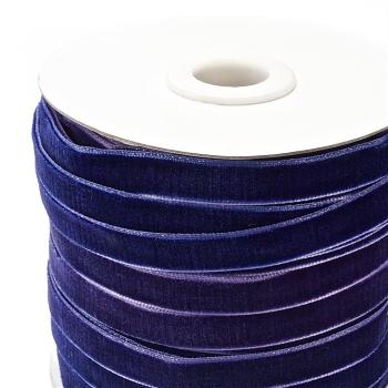 Лента бархатная 10 мм синяя