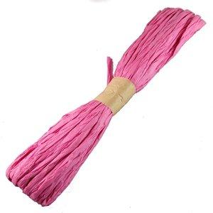 Стрічка паперова рафія. Рожевий.
