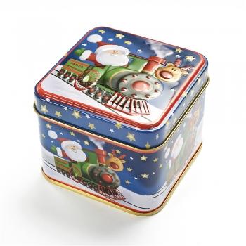 Коробочка жестяная 7,5х7,5х6,5 см Санта експрес