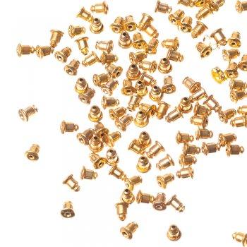 Фиксатор для серег конус золотой