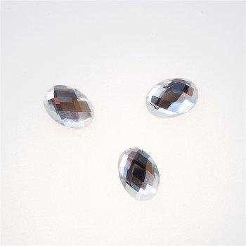 Стразы стеклянные клеевые. Прозрачный. Длина 14 мм, ширина 10 мм.
