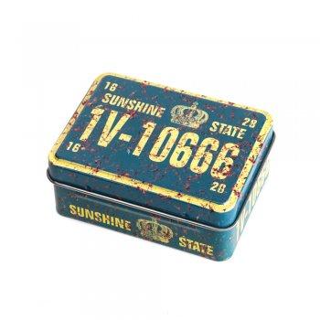"Коробочка жестяная прямоугольная 8х6х3,2 см ""Sunshine State"""