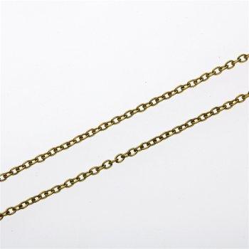 Ланцюг бронзового кольору дрібний якірний 2,3х3х0,6 мм