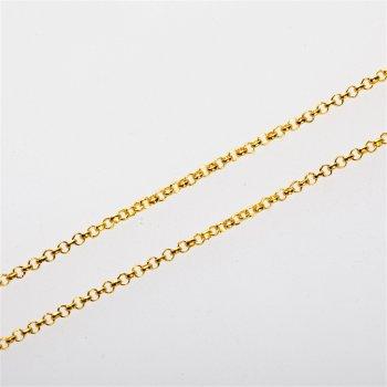 Цепь под золото мелкая ролло 2х2х0,6 мм