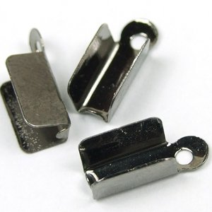 Затискачі для ниток. Темна сталь. Довжина 7 мм, ширина 4 мм