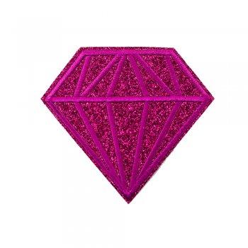 Тканинна нашивка Діамант Малиновий