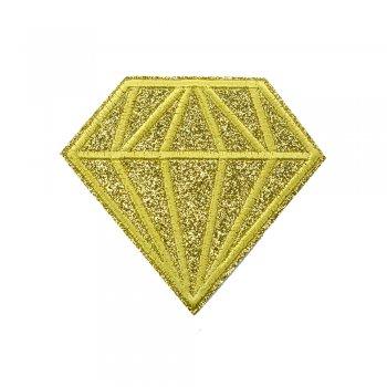 Тканинна нашивка Діамант Золотий