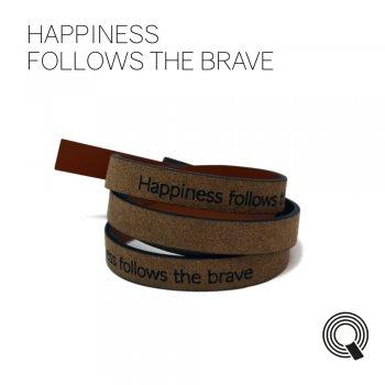 """Браслеты квоутлеты """"Happiness follows the brave"""", темно-коричневый"""