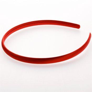 Обруч пластиковий з атласним покриттям червоний