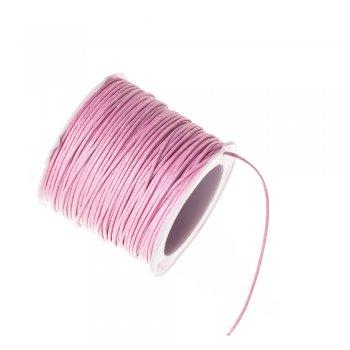 Нить хлопковая, розовая, 1 м