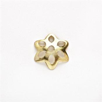 Золотые обниматели цветок 6-лепестковый остроконечный 10 мм