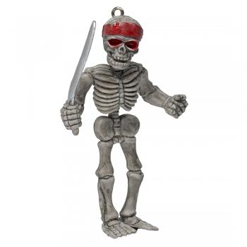 Пластикова підвіска Скелет з мечем