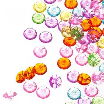 Пуговицы пластиковые, микс цветов, 10 мм