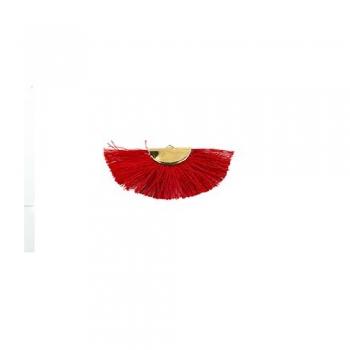 Текстильная кисточка красная