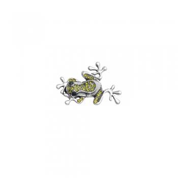Бусина кнопка лягушка