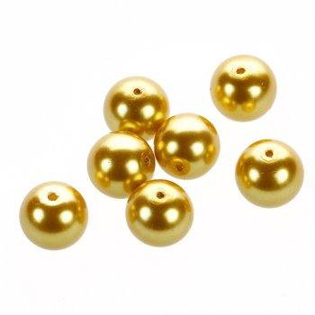 Перли гладкі великі золотий