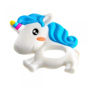Силиконовая подвеска Единорог белый