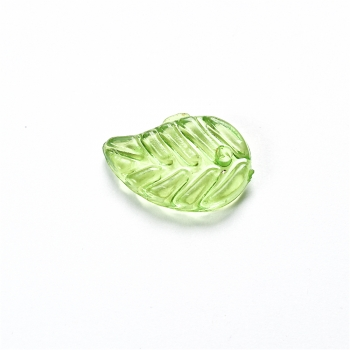Пластиковые кристаллы 14 мм. Зеленые