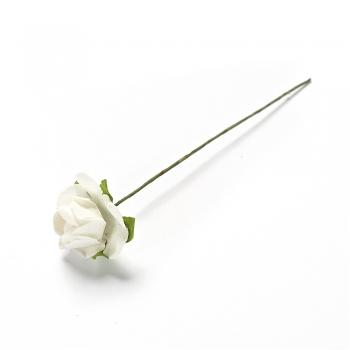 Штучна квітка біла 15 мм