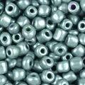 Бисер металлизированный серебристый