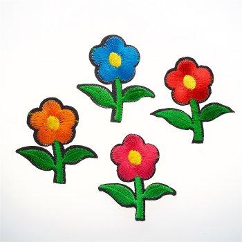 Тканевая нашивка Яркий микс цветы