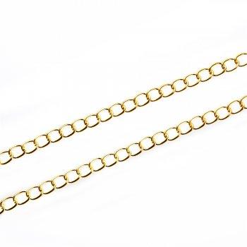 Цепь под золото средняя панцирная 8х10х1,8 мм