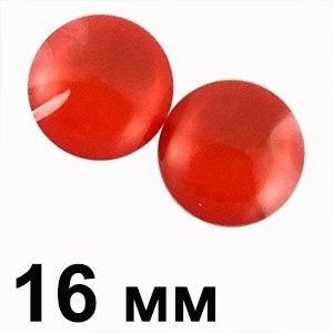 Пластикові кабошони червоний опуклий круг 16 мм