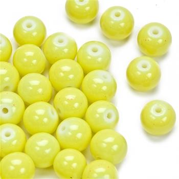 Намистина скляна 8 мм лимонна