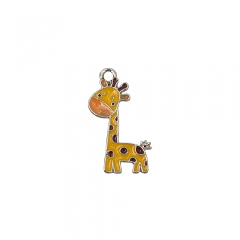 Металлическая подвеска с эмалью Жираф