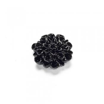 Пластикові клейові елементи. Квітка чорна