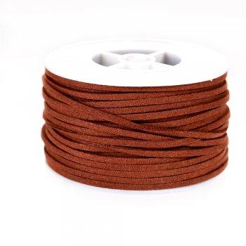 Шнур коричневий замша 3х1, 4 мм