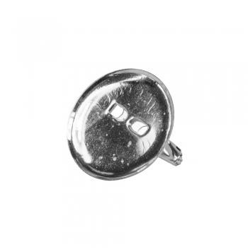 Основа для брошки кругла клейова, срібло, 20 мм