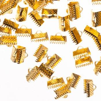 Зажимы для лент золото