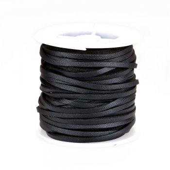 Шнури під замшу односторонні 15 м чорний
