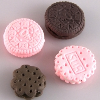 Печенье шоколадное Бусина из полимерной глины
