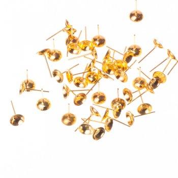 Основи-гвоздики для сережок. Золотий. Діаметр 8 мм.