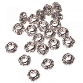 Роздільні намистини під срібло, 16 мм