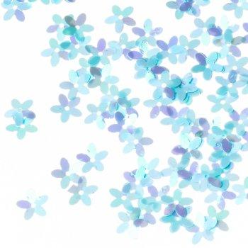 Пайетки голубой радужный 10 мм
