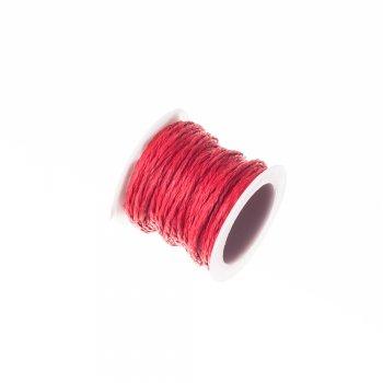 Плетёный шнур красный бумажный