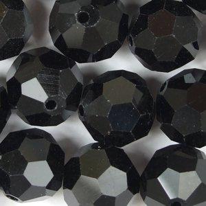Хрустальная бусина круглая 12 мм черная