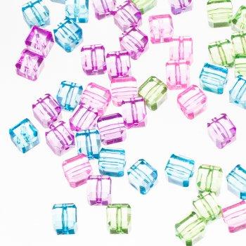 Пластиковые кристаллы, микс цветов