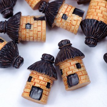 """Декоративний елемент з полімерної глини """"Сільська башта"""" 25х15 мм"""