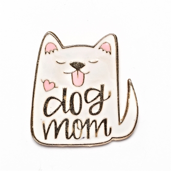 Значок пин кот Dog MOM