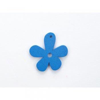 Дерев'яна підвіска Квіточка Синя