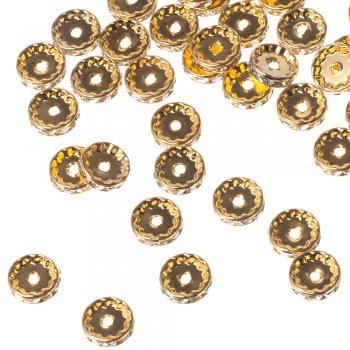 Редкая разделительная бусина, под золото, 12 мм