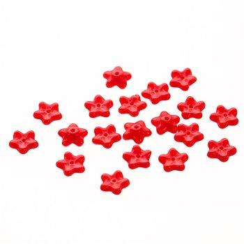 Червона намистина квітка з чеського скла, 8 мм