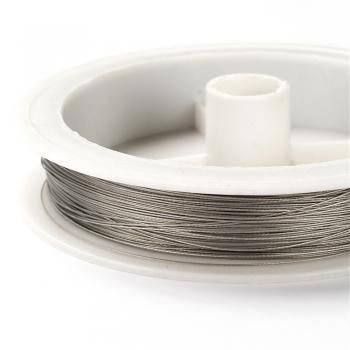 Металева волосінь. Сірий. Діаметр 0,38 мм.